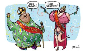 cartum sobre o rei momo